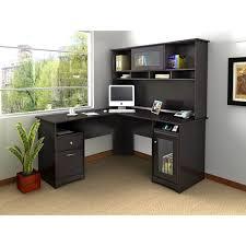 bush fairview l shaped computer desk with optional hutch u2013 antique