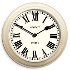 large cream outdoor garden clock roman dial newgate clocks the sea