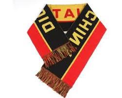 china acrylic football scarf wholesale acrylic football scarf