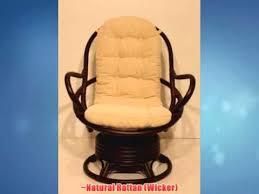 Rattan Swivel Rocker Cushions Java Swivel Rocking Chair Dark Brown With Cushion Handmade Natural