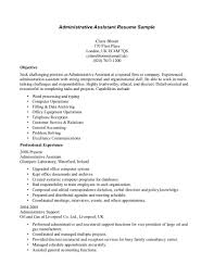 Sample Resume Work Objectives by Sample Resume Objectives For An Administrative Assistant