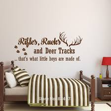online buy wholesale deer wall mural from china deer wall mural rifles racks and deer tracks quote wall art sticker wall decal home diy decoration wall mural