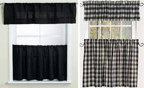 Checkered Kitchen Curtains Black And White Checkered Kitchen Curtains Curtain White Check