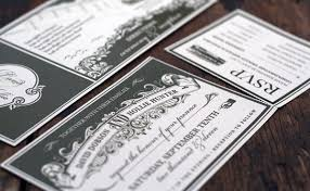 black and white ticket style wedding invitations