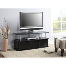 tv stands audio cabinets convenience concepts designs2go cherry tv stand with 3 cabinets for