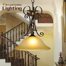 bronze dining room lighting european iron pendant lights classical stairwell lights adjustable