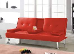 popamazing modern faux leather 3 seater sofa bed with fold down