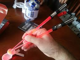 lightsaber toy light up thinkgeek product reviews light up chopsabers r2 d2 measuring cup