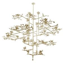 Lotus Chandelier Lotus Chandelier With White Finish Contemporary Transitional Mid