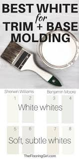 best white for cabinets and trim the best white paint shade for trim and base molding the