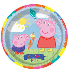 peppa pig party peppa pig party plates 8 pcs party souq