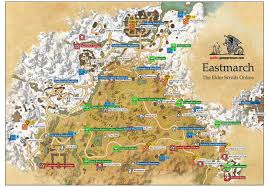 Elder Scrolls Map Eastmarch Ebonheart Pact The Elder Scrolls Online Game Guide