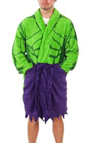 amazon com mens marvel comics incredible hulk dressing gown clothing