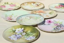 mismatched plates wedding mismatched florals wedding china porcelain plates w painted