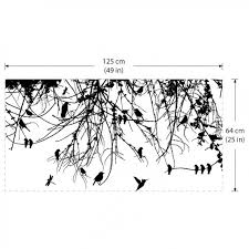 branch with birds and dragonfly vinyl wall decal