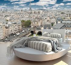 paris way up wall mural paris from way up is a photograph of paris france from atop a building giving you a perspective of the city from above in the distance is the view of the