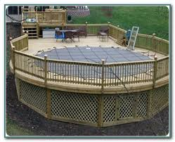 above ground pool deck fence kit pools home decorating ideas