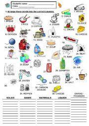 Exercises Count And Non Count Nouns Worksheet Noncount Nouns Part 1