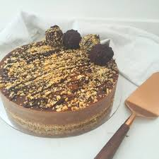 this ferrero rocher mousse cake is so easy to make in your