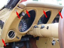 corvette instrument cluster repair by how to replace a bulb in the speedometer or