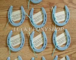personalized horseshoe set wedding horseshoe favors set of 10 genuine used painted