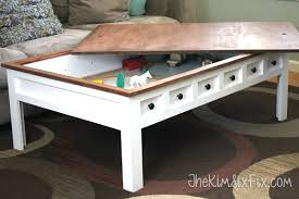 train table with cover apothecary style coffee table with hidden and train play areas