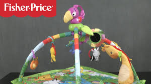 fisher price rainforest music and lights deluxe gym playset rainforest music lights deluxe gym from fisher price youtube