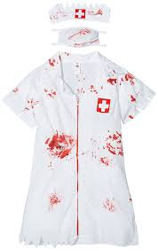 amazon com smiffys women u0027s zombie nurse costume clothing