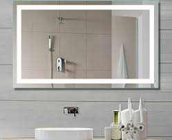 Illuminated Bathroom Wall Mirror Lighted Bathroom Wall Mirror House Decorations