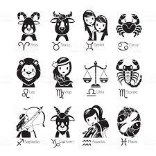zodiac signs icons set monochrome stock vector art 611896446 istock