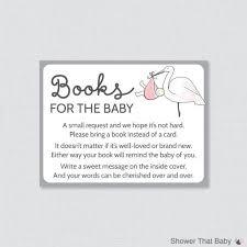baby shower book instead of card poem stork baby shower bring a book instead of a card invitation