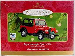 hallmark ornament jeep wrangler sport 4 0l 60th