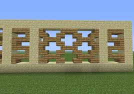 Modern Fence Window Decoration Pattern Minecraft Pinterest Modern Fence