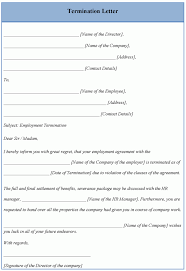 termination letter template gplusnick
