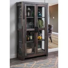 reclaimed wood curio cabinet oscar grey reclaimed wood curio cabinet by kosas home free