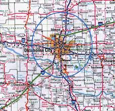 okc zip code map map of okc my
