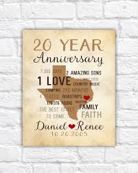 20th wedding anniversary gift anniversary gifts for men 20th anniversary gift for him or 20th