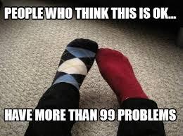 Sock Meme - meme creator mismatched socks meme generator at memecreator org