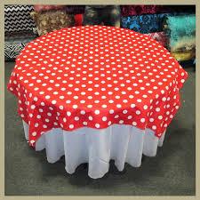 red white polka dot table covers white polka dot cotton table overlay