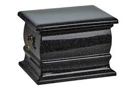 black casket black granite composite casket shape funeral cremation ashes urn