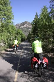 Michigander Bicycle Tour Michigan Trails And Greenways Alliance Bobby And Thane Tackle The Transam Day 47 Breckenridge To