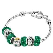 clasp bracelet charms images 22k golden plated st patrick emerald green murano glass charms jpg