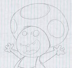 super mario bros toad sketch by virus 20 on deviantart