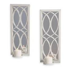 Mirrored Wall Sconce White Metal Wall Sconce With Mirror