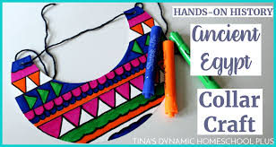 fun hands on history ancient egyptian collar craft