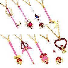 wholesale sailor moon sailor moon wand pendant necklaces
