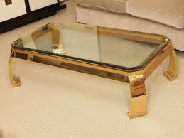 Glass And Gold Coffee Table Glass Top Coffee Table With Gold Frame Curved Legs Decofurnish