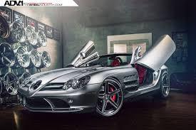 mercedes slr mclaren amg silver mercedes slr mclaren roadster with adv 1 wheels gtspirit