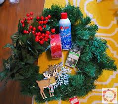 a glimpse inside simple christmas wreath