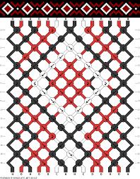 diamonds friendship bracelet images Friendship bracelet pattern simple diamonds square dots 14 gif